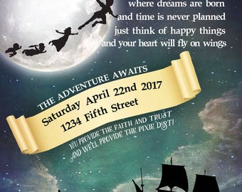 Peter Pan Party Invitation