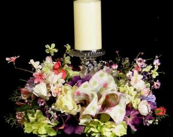 SALE Floral Candle WreathSilk Flower ArrangementsElegant Arrangementsluxury