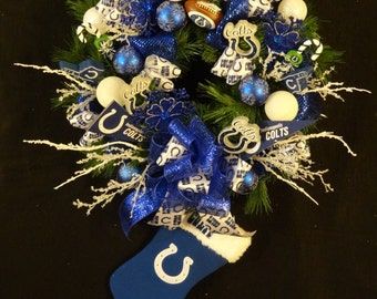 Sale Wreath,Indianapolis Colts Wreath,Indianapolis Colts Ornaments,Indianapolis Colts Decoration,Indianapolis Colts Football Decoration