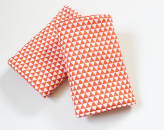 Pair of drool pads for your baby carrier-  ergobaby orange triangles