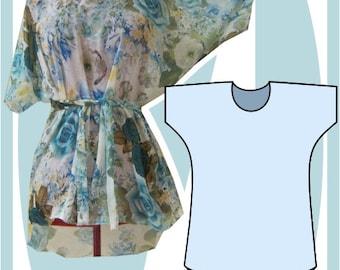 Sewing Pattern: Summer Batwing dress, mini