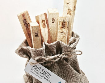 Palo Santo with Intention - 6 sticks - PSI01
