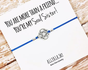 "Best Friend Bracelet with ""Soul Sister"" Card 