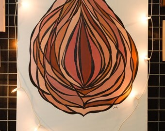 Vulva/ feminist/ girl power art print