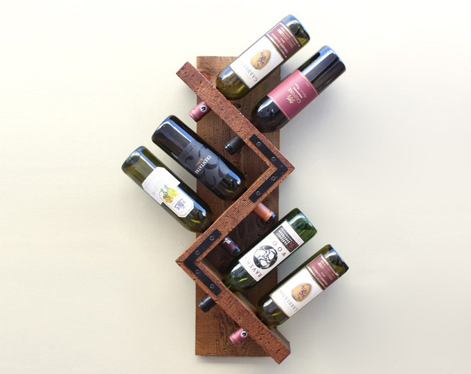 Wall Wine Rack, Rustic Wine Rack, Wood Wine Display