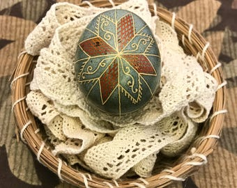Pysanky Pysakna Gray-Blue Chicken Egg
