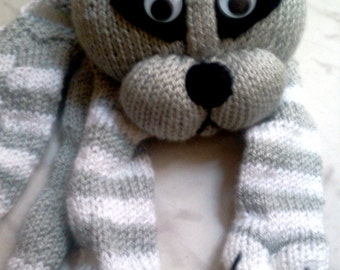 Cat Scarf Knitting Cat Scarf Grey Cat Scarf Ready to shipping