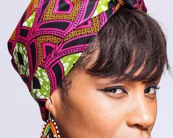 African Print headwrap   Head Scarf   Turban Wax   African Scarves   African wax print Head Wrap   Head covering   Ladies Scarves   Print 16