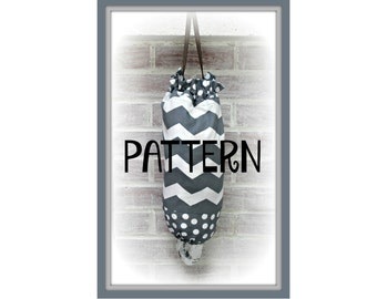 TUTORIAL - Grocery Bag Holder - PATTERN - PDF - Instant download - sew - Plastic Sack Holder
