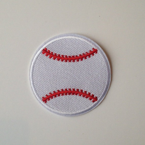 Baseball Iron on Patch