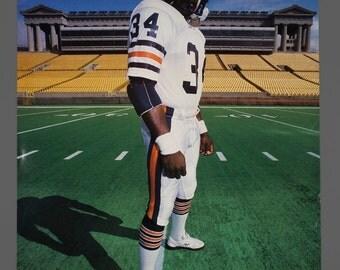 1987 Walter Payton Chicago Bears Player Poster 22 x 29 Vintage Poster KFC