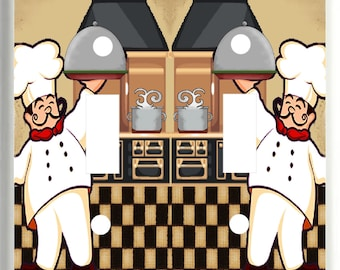 FAT CHEF Kitchen Light Switch Cover Plate k5 Kitchen Home Decor  Free Shipping in U.S.!!!