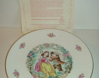 1979 Royal Doulton Valentine Plate with COA