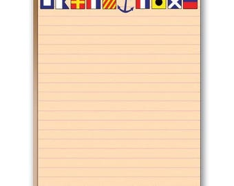 Nautical Flags Note Pad - Boat Theme Notepads - 35026