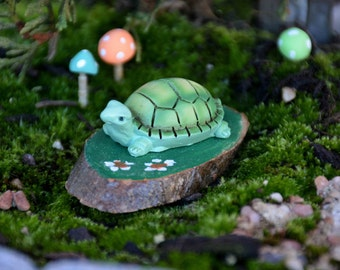 Miniature Turtle,Fairy Garden Turtle,Terrarium Turtle,Terrarium Accessory,Fairy Garden Accessory,