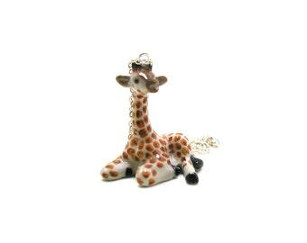 Giraffe Necklace, Charm Necklace, Charm Jewelry, Giraffe Pendant, Giraffe Jewelry, Giraffe Charm, Zoo Animal Charm, Wildlife Necklace