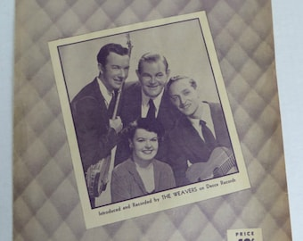 Vintage Sheet Music of the Fifties On Top of Old Smoky and Glow Worm