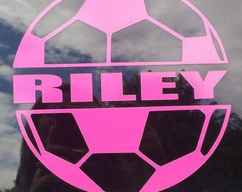 Soccer Car Decal Etsy - Soccer custom vinyl decals for car windows