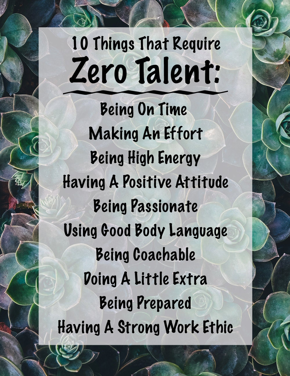 Amazing image pertaining to 10 things that require zero talent printable