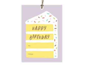 Birthday Cake - Gift Tags Set of 10