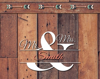 Mr. & Mrs. Name Decal | Yeti Decal | Yeti Sticker | Tumbler Decal | Car Decal | Vinyl Decal