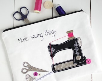 Personalised Sewing Bag - Personalised Project Bag - Sewing Gifts - Sewing Machine - Mother's Day Gift - Gift for Mum - Craft Gift - Sewing