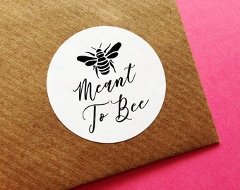 Meant To Bee Stickers, Wedding Favour Label, Honey Bee Stickers, Wedding Honey Pot Sticker, Honey Sticker, Wedding Meant To Bee Stickers