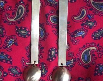 Brass 'Exene' post earrings