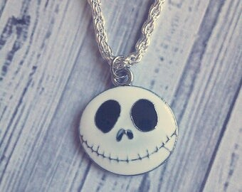 "Jack Skellington Charm Neckalce (Nightmare Before Chirstmas) 18"" - Choose Your Own Chain"