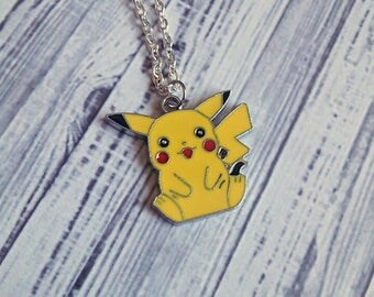 "Pikachu Charm Necklace (Pokemon) 18"" Nerdy - Choose Your Own Chain"
