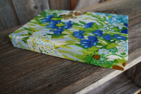 Handbound Vintage Floral Fabric Covered Journal/Notebook