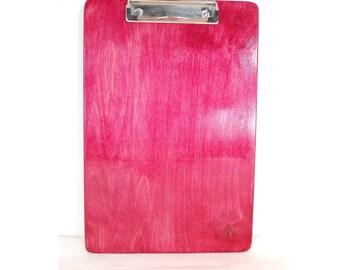 Coach's Clipboard, Bordeaux, Wooden Clipboard
