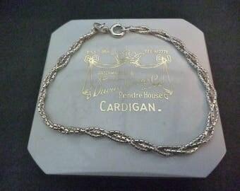 "A vintage silver Woven style bracelet - 925 - sterling silver - 6.5"" - Marked 925"