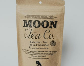 Maternity Tea For The 2nd Trimester - Nutrients, anxiety, immune health, Organic Herbal Tea, Loose Leaf, Pregnancy Health