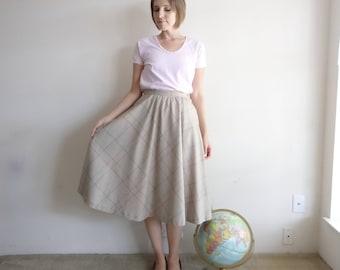 Vintage 1970s Wool Circle Skirt/70s Skirt/Small