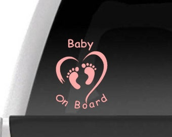 """Vinyl Decal - """"Baby On Board"""" Decal for Cars, Trucks, Suv's, etc..."""