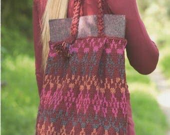 DMC Knitting Pattern 15135L/2  Slouch Bag Woolly Pattern