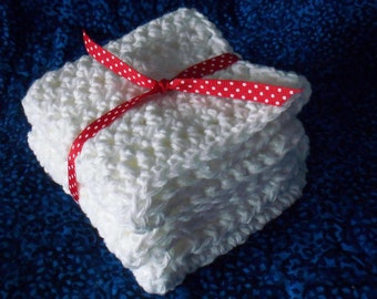 Handmade Dishcloths /Washcloths / Spa / Nursery /Kitchen