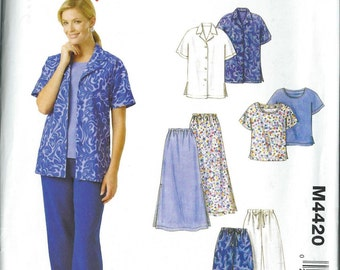 Vintage Sewing Pattern - East Stitch 'n Save by McCall's #M4420, Size A (8-10-12-14)