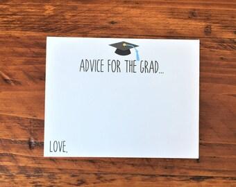 Advice for the Grad Card,  2017 Graduation Party Decor