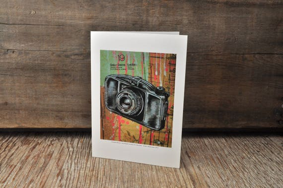 Vintage Boyer camera blank greeting card