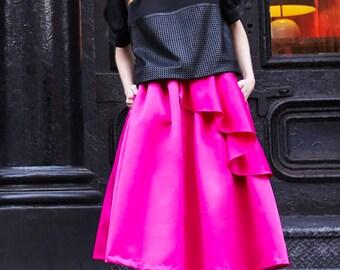 Side Peplum Skirt
