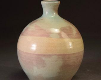Porcelain Turquoise/Purple Bottle