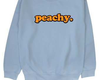Peachy ∘ Sweatshirt ∘ Unisex ∘ Kawaii ∘ Grunge ∘ Pastel Pink Blue Yellow ∘ Tumblr ∘ Instagram