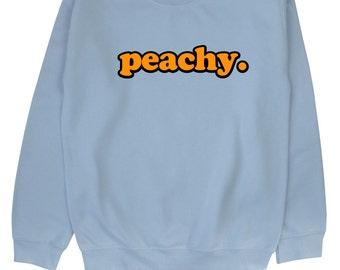Peachy ∘ Sweatshirt ∘ Unisex ∘ Kawaii ∘ Grunge ∘ Pastel Pink Blue Yellow ∘ Tumblr ∘ Instagram