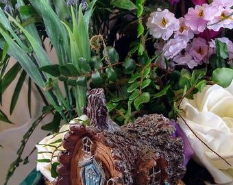 Fairy Log House, Miniature House, Miniature Fairy Cottage, Fairy Garden Accessories, Fairy House