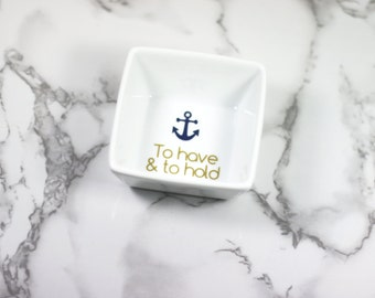 Personalized Ring Dish, engagement gift, ring dish, ring holder, jewelry holder, wedding ring dish, personalized ring, wedding gift monogram