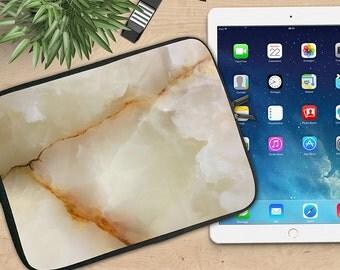 Marble Neoprene Ipad Sleeve, Marbled Stone Ipad Sleeve, Ipad 2/3/4, Ipad Air, Tablet Travel Case