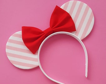 Pink Stripped Mouse Ears