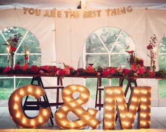marquee letter lights initials u003eu003e weddings anniversary gift gift engagements - Marquee Letter Lights
